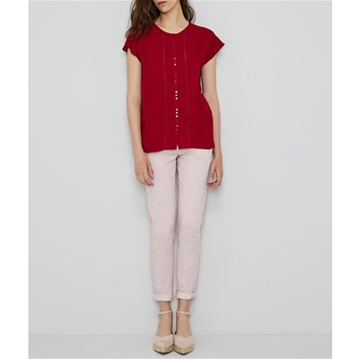 Ddp Chemise Ddp Courtes Manches Chemise Manches Rosso Courtes rFq4wgrIn