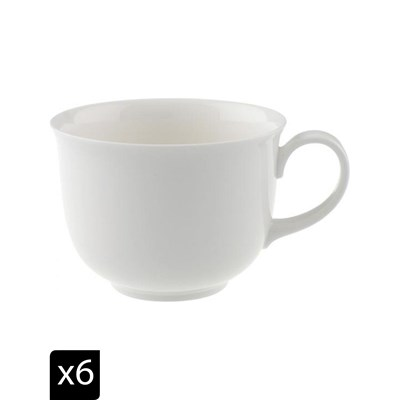 Villeroy & boch home elements - set de 6 tasses à café/thé - blanc