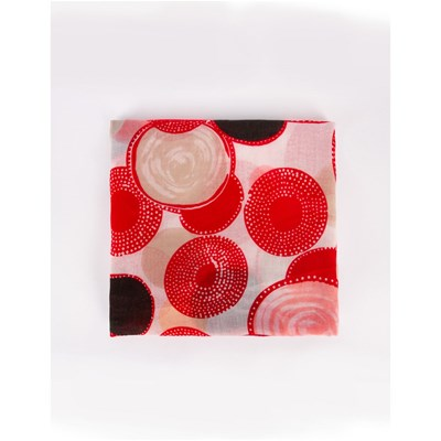 Morgan Spher - foulard cercles - rouge