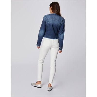 MORGAN Vani - Veste denim détail strass - bleu jean