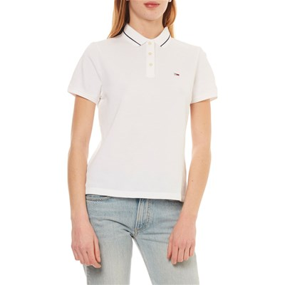 TOMMY JEANS Polo manches courtes - blanc