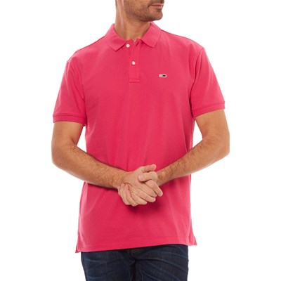 TOMMY JEANS Polo manches courtes - fuchsia