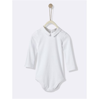 Cyrillus Body col en oxford - blanc