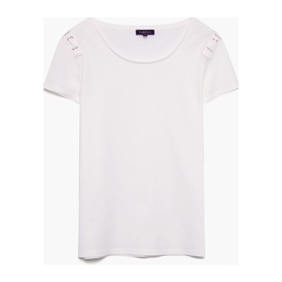 CAROLL Rusty - T-shirt manches courtes - ivoire