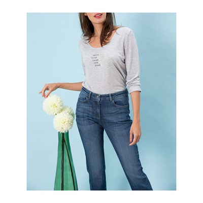 CAROLL Milly - T-shirt manches longues - perle