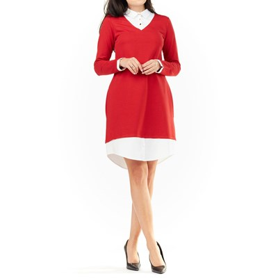 Infinite you Robe col claudine - rouge