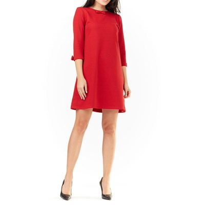 Infinite you Robe manches 3/4 encolure arrondie - rouge