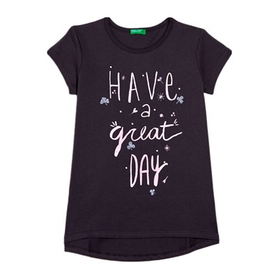 Benetton Kid t-Shirt manches courtes - anthracite