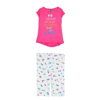 Benetton Ensemble t-Shirt et pantalon - multicolore