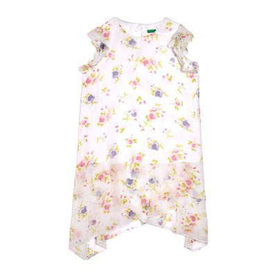 Benetton Kid robe fluide - blanc