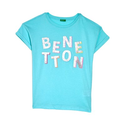 Benetton Kid t-Shirt manches courtes - turquoise