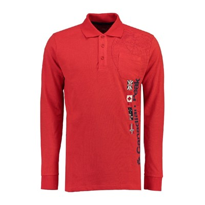CANADIAN PEAK Kazz 100 CP 2600 - Polo manches longues - rouge