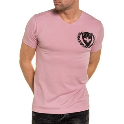 shirt Courtes Manches Couture Hite Rose T wS1qngxWCA