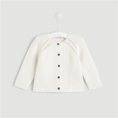 Bout'Chou Cardigan point mousse - beige