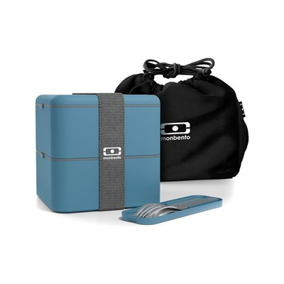 MONBENTO MB Square - Lunch box Pack - bleu