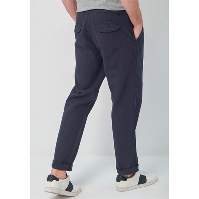 BEST MOUNTAIN Pantalon 55% lin - bleu marine