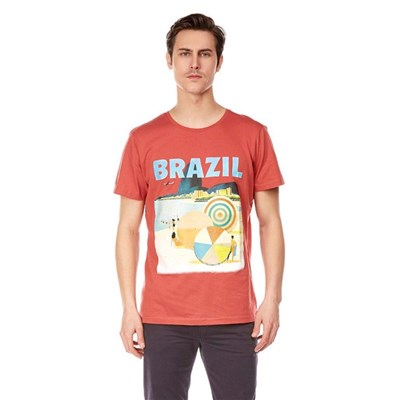 BEST MOUNTAIN T-shirt manches courtes - brique
