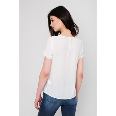 BEST MOUNTAIN Blouse broderie devant - blanc