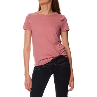 VERO MODA Top 55% lin - rose