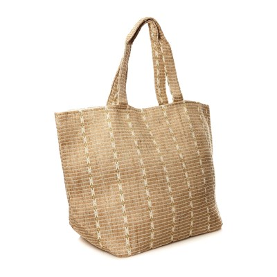 PIECES Carrie - Sac shopping - paille