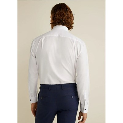 MANGO MAN Chemise Tailored regular-fit en coton - blanc