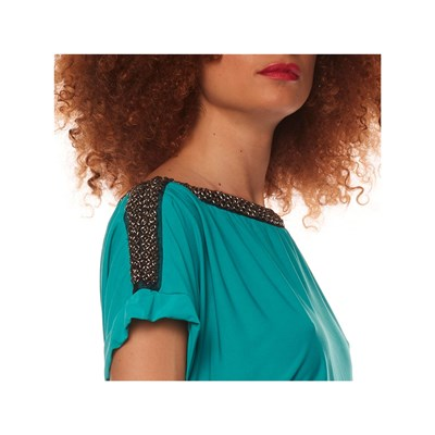 ANABELLE PARIS Robe fluide - turquoise
