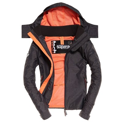 SUPERDRY Technical hooded cliff hiker - Blouson - gris