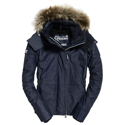 SUPERDRY Hooded fur - Blouson - gris