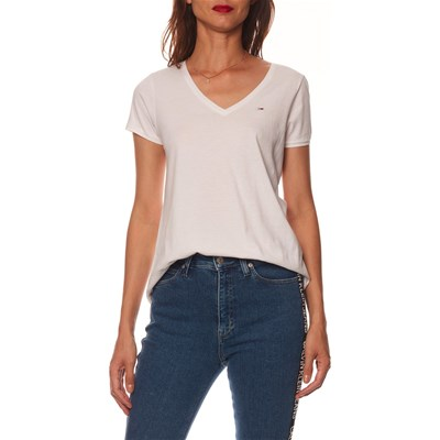 TOMMY JEANS T-shirt manches courtes - blanc