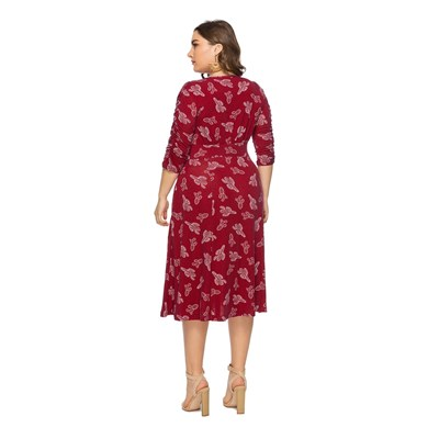 Angelica Plus ROBE FLUIDE - ROUGE