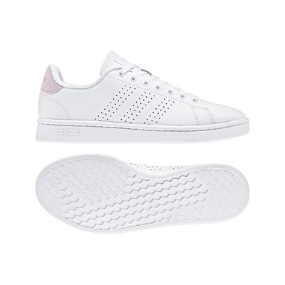 ADIDAS Advantage - Baskets en cuir - blanc