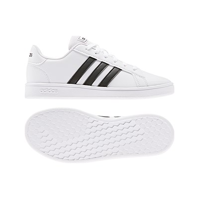 ADIDAS Grand Court K - Baskets basses - blanc