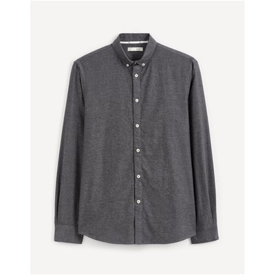 CELIO Napinpoint - Chemise manches longues - anthracite