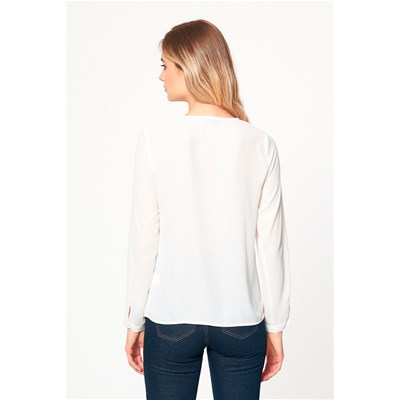 BEST MOUNTAIN Blouse col V - blanc