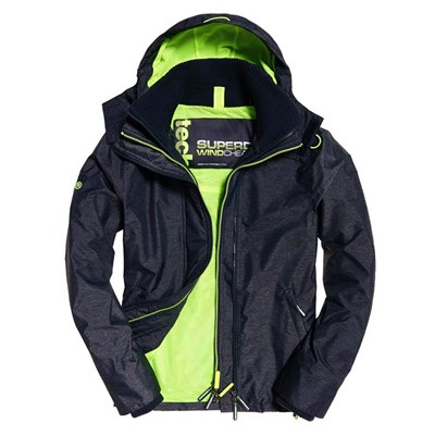 SUPERDRY Tech hood pop zip - Blouson - noir