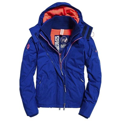 SUPERDRY Sd artic hood pop zip - Blouson - bleu