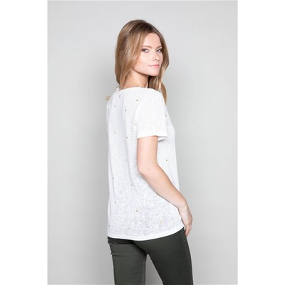 Deeluxe T-SHIRT MANCHES COURTES - BLANC
