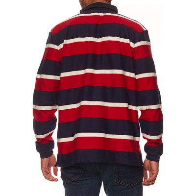 TOMMY HILFIGER Polo manches longues - rouge
