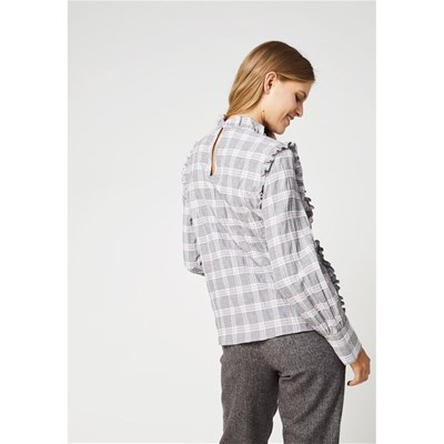 KOOKAI Blouse à carreaux check - gris