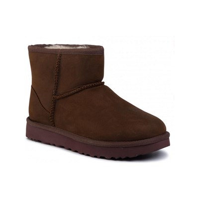 UGG CLASSIC MINI LEATHER - Bottes en cuir - marron