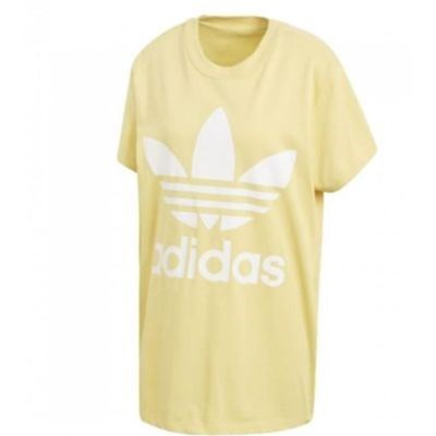 ADIDAS ORIGINALS Big Trefoil - T-shirt manches courtes - jaune