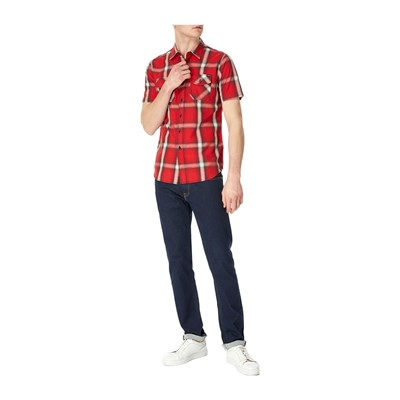 REPLAY Chemise manches courtes - rouge