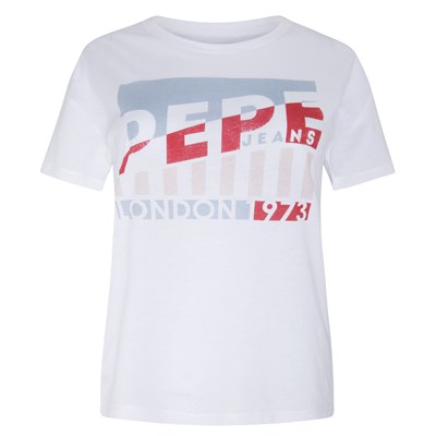 PEPE JEANS LONDON Cameo - T-shirt manches courtes - blanc