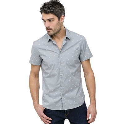 OXBOW Calfs - Chemise manches courtes - gris