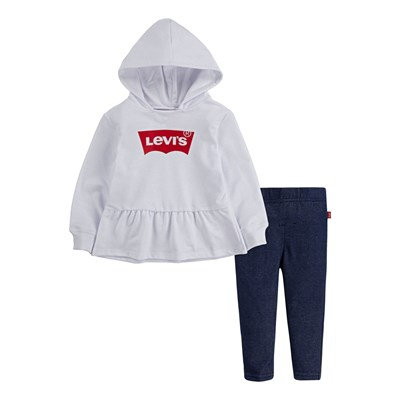 LEVI'S KIDS Ensemble sweat à capuche et legging - blanc