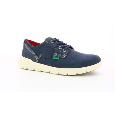 KICKERS Kick Lo 2 - Derbies en cuir - bleu marine