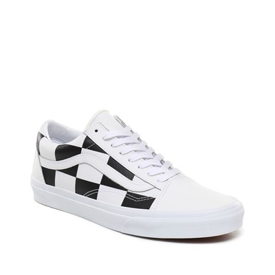 VANS Old Skool - Baskets basses en cuir - blanc