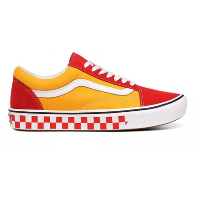 VANS UA ComfyCush Old S - Tennis en cuir - rouge