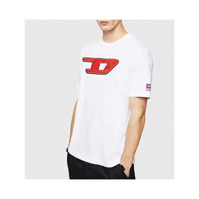 DIESEL T-JUST-DIVISION - T-shirt manches courtes - blanc