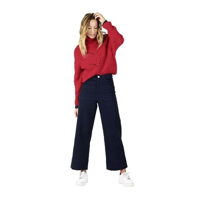 OXBOW Pally - Pull col roulé en laine - rouge
